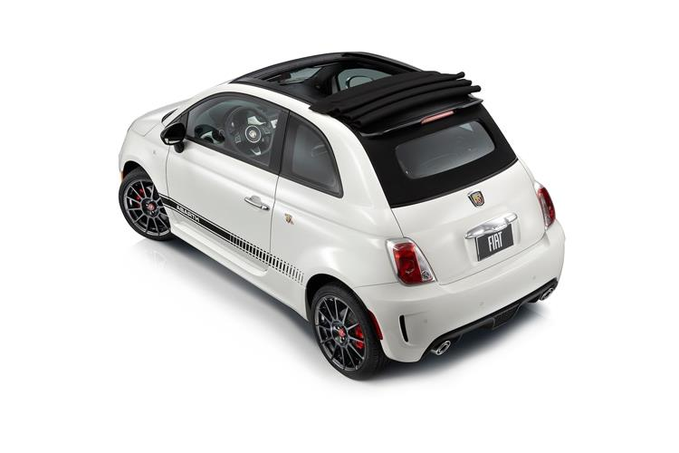Abarth 595 C Cabrio 1.4 T-Jet 165PS Turismo 70th 2Dr Manual back view